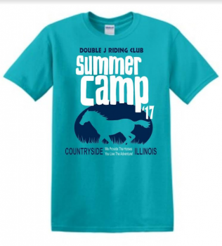 "Double J Riding Club ""Summer Camp"" shirt."